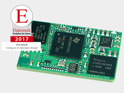 Product of the Year 2017 - 2nd place in Embedded Design